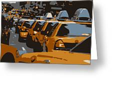 Nyc Traffic Color 6 Greeting Card by Scott Kelley