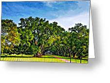 Oak Alley Plantation Greeting Card by Steve Harrington
