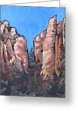 Oak Creek Canyon Greeting Card by Sandy Tracey