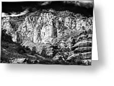 Oak Creek Mountain Greeting Card by John Rizzuto