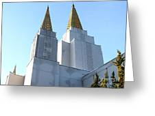 Oakland California Temple . The Church Of Jesus Christ Of Latter-day Saints . 7d11360 Greeting Card by Wingsdomain Art and Photography