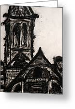 Oakwood Church Front Greeting Card by Christophe Ennis