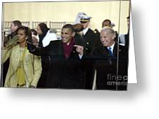 OBAMA INAGURATION, 2009 Greeting Card by Granger