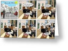 Obama N Freud II Greeting Card by Kevin  Marley