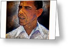 Obama. The 44th President. Greeting Card by Fred Makubuya