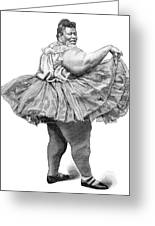 Obese Woman, 19th Century Greeting Card by