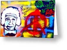 Occupy Einstein Greeting Card by Tony B Conscious