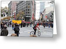 Occupy Sf . 7d9733 Greeting Card by Wingsdomain Art and Photography