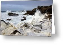 Ocean Foam Greeting Card by Carlos Caetano