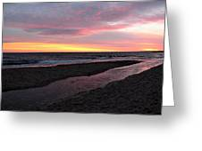 Ocean River Greeting Card by Mary Greetham