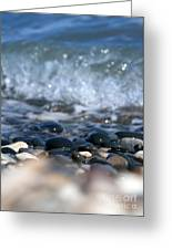 Ocean Stones Greeting Card by Stylianos Kleanthous