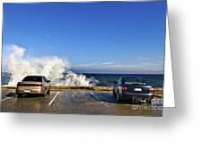 Oceanside Parking Greeting Card by Eddy Joaquim