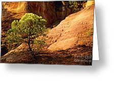 Ocher. Roussillon. Luberon Greeting Card by Bernard Jaubert