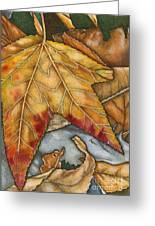 October Greeting Card by Nora Blansett