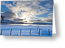 October Snow Greeting Card by Frank Olsen