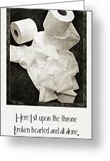 Ode To The Spare Roll Greeting Card by Andee Design