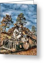 Of Mountain And Machine Greeting Card by Jeff Kolker