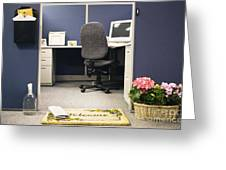 Office Cubicle Greeting Card by Andersen Ross