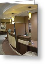Office Reception Area Greeting Card by Andersen Ross