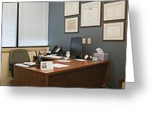 Office Space Greeting Card by Andersen Ross