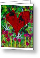 Oh My Green Heart Greeting Card by Donna Daugherty