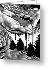 Oil Pollution Greeting Card by Bill Sanderson