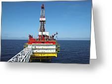 Oil Production Rig, Baltic Sea Greeting Card by Ria Novosti