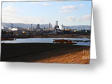 Oil Refinery Industrial Plant In Martinez California . 7d10398 Greeting Card by Wingsdomain Art and Photography