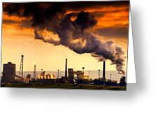 Oil Refinery Greeting Card by John Short