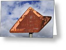 Old And Rusty Traffic Sign Greeting Card by Matthias Hauser