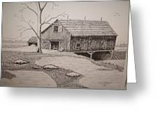 Old Barn Greeting Card by William Deering