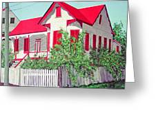 Old Belizean Home Greeting Card by John Westerhold