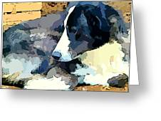 Old Blue Greeting Card by Mindy Newman