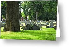 Old Cemetery In Boston Greeting Card by Elena Elisseeva