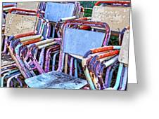 Old Chairs Greeting Card by Joana Kruse