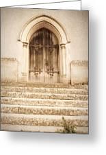 Old Church Door Greeting Card by Tom Gowanlock
