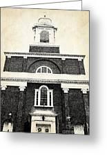 Old Church In Boston Greeting Card by Elena Elisseeva