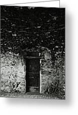 Old Door Under The Porch Greeting Card by Ettore Zani