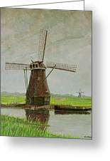 Old Dutch Mill Greeting Card by Nick Diemel