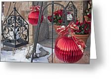 Old-fashioned Christmas 6 - Gardener Village Greeting Card by Steve Ohlsen