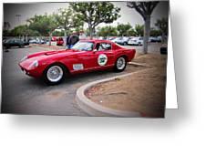 old Ferrari Greeting Card by Michael Burleigh