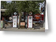 Old Gas Pumps, 2009 Greeting Card by Granger