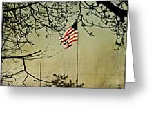 Old Glory Greeting Card by Linda Deal