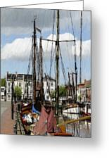 Old Harbor Greeting Card by Stefan Kuhn