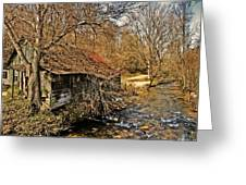 Old Home On A River Greeting Card by Susan Leggett