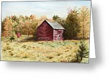 Old Homestead Barn Greeting Card by Kathy Roberts