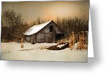 Old Homestead Barn Greeting Card by Mary Timman