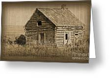 Old Hunting Cabin - Wyoming Greeting Card by Donna Greene