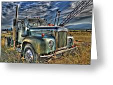 Old Mack Truck Greeting Card by Peter Schumacher