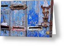 Old Mailboxes Greeting Card by Carlos Caetano
